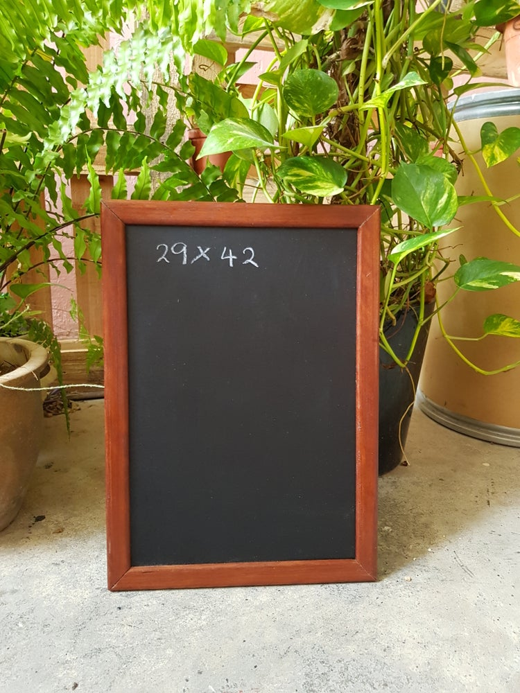 42 x 29 Chalkboard with Brown Frame