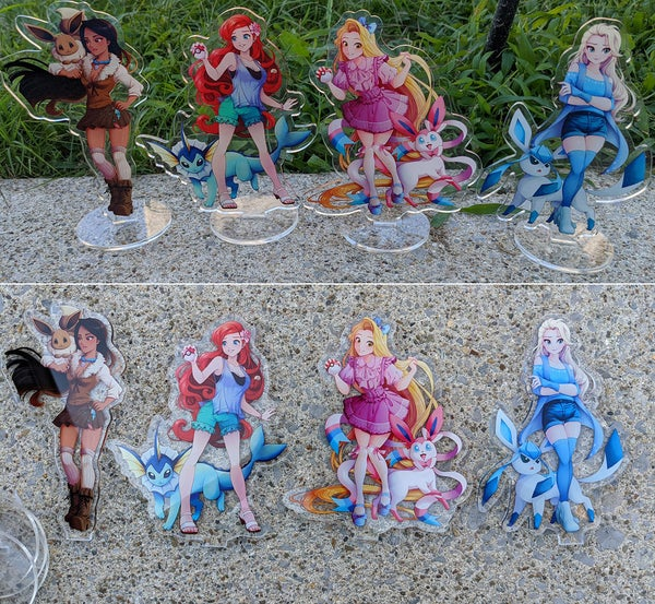 Image of Eeveelutions and Princesses Acrylic Standees Wave 1