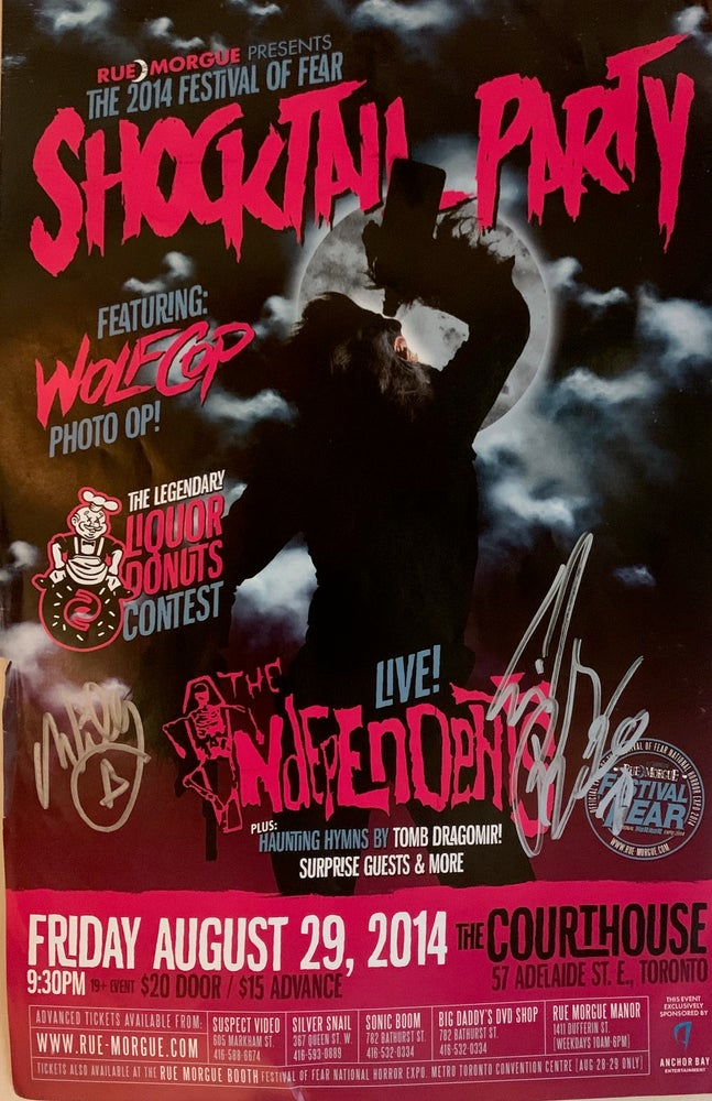 Image of The Independents Autographed Shocktail Party Poster