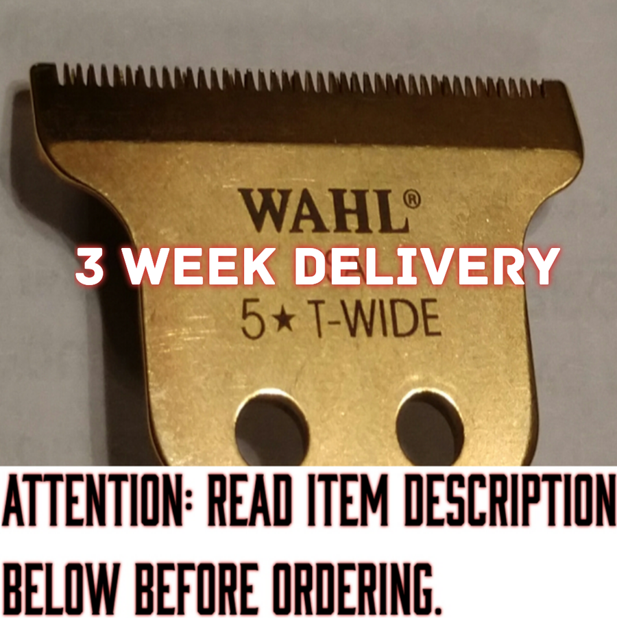 "Image of (3-4 Week Delivery/High Order Volume) Gold ""Modified"" Wahl T-Wide Trimmer Blade"