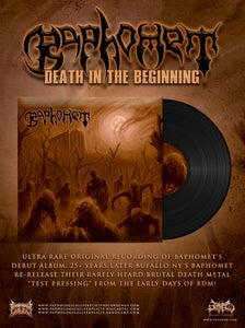 Image of BAPHOMET-DEATH IN THE BEGINNING VINYL