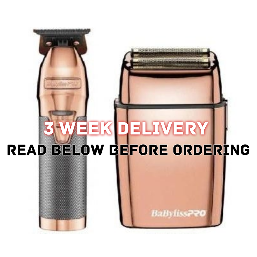 Image of (3 Week Delivery/High Order Volume) Rose-Gold Babyliss Skeleton Trimmer W/Foil Shaver