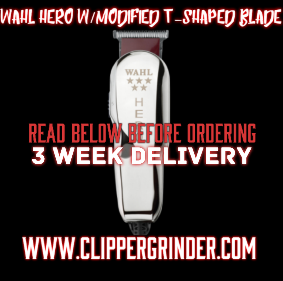 Image of (3 Week Delivery/High Order Volume) Wahl Hero Trimmer/W Modified Hero Blade