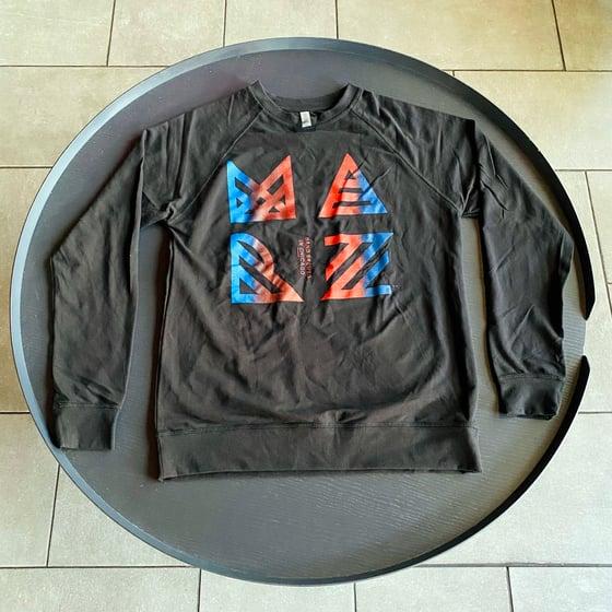 Image of Marz Blue/Red Fade logo Long Sleeve Shirt