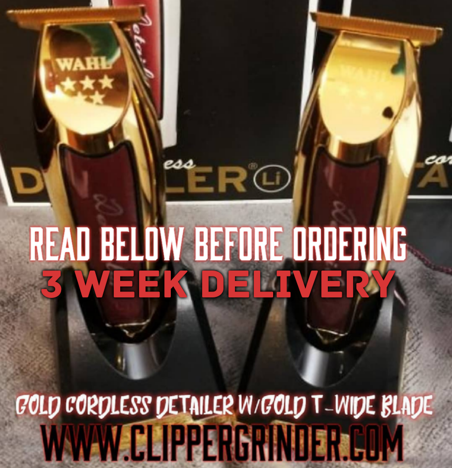 "Image of (3-4 Week Delivery/Pre-Order) Gold Cordless Wahl Detailer W/Gold ""Modified"" Blade"