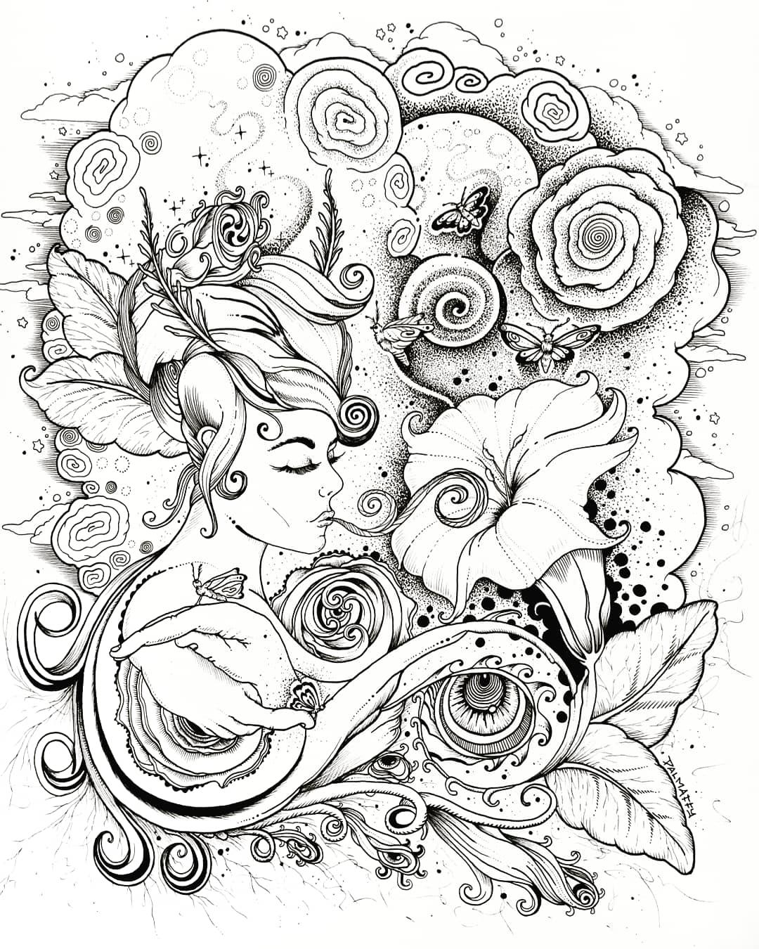 Image of Datura Dreams Drawing