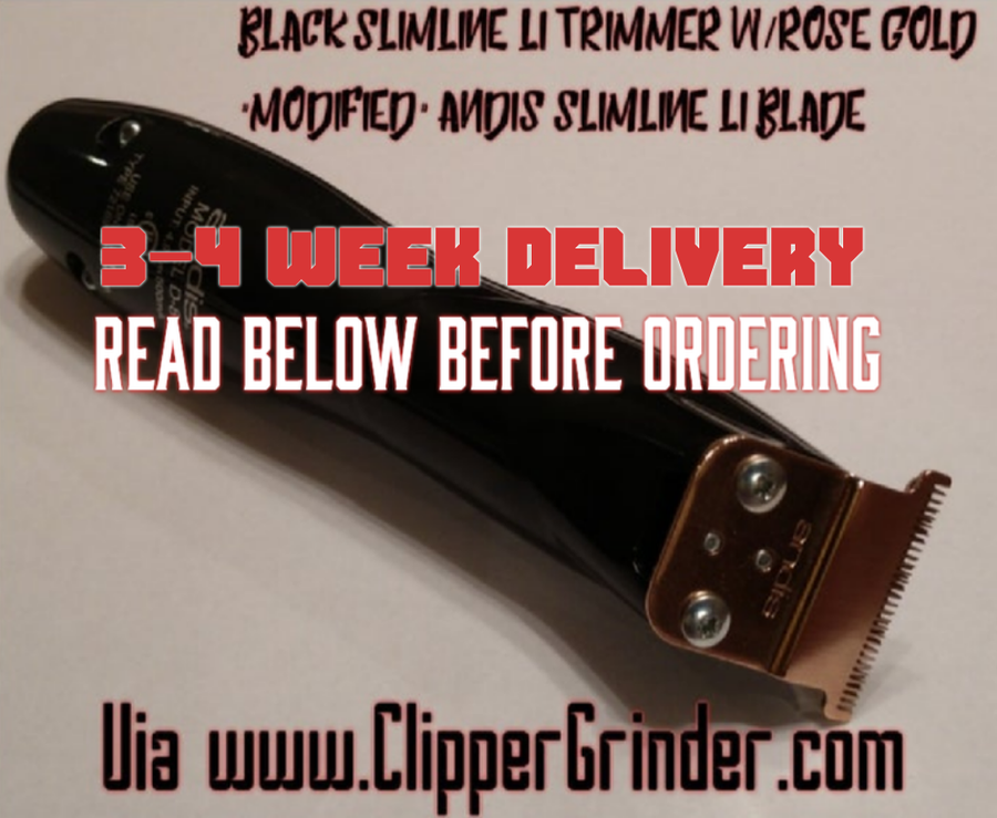 "Image of (3-4 Week Delivery/Pre-Order)Black Slimline Pro Li Trimmer W/Rose-Gold ""Modified"" Blade"