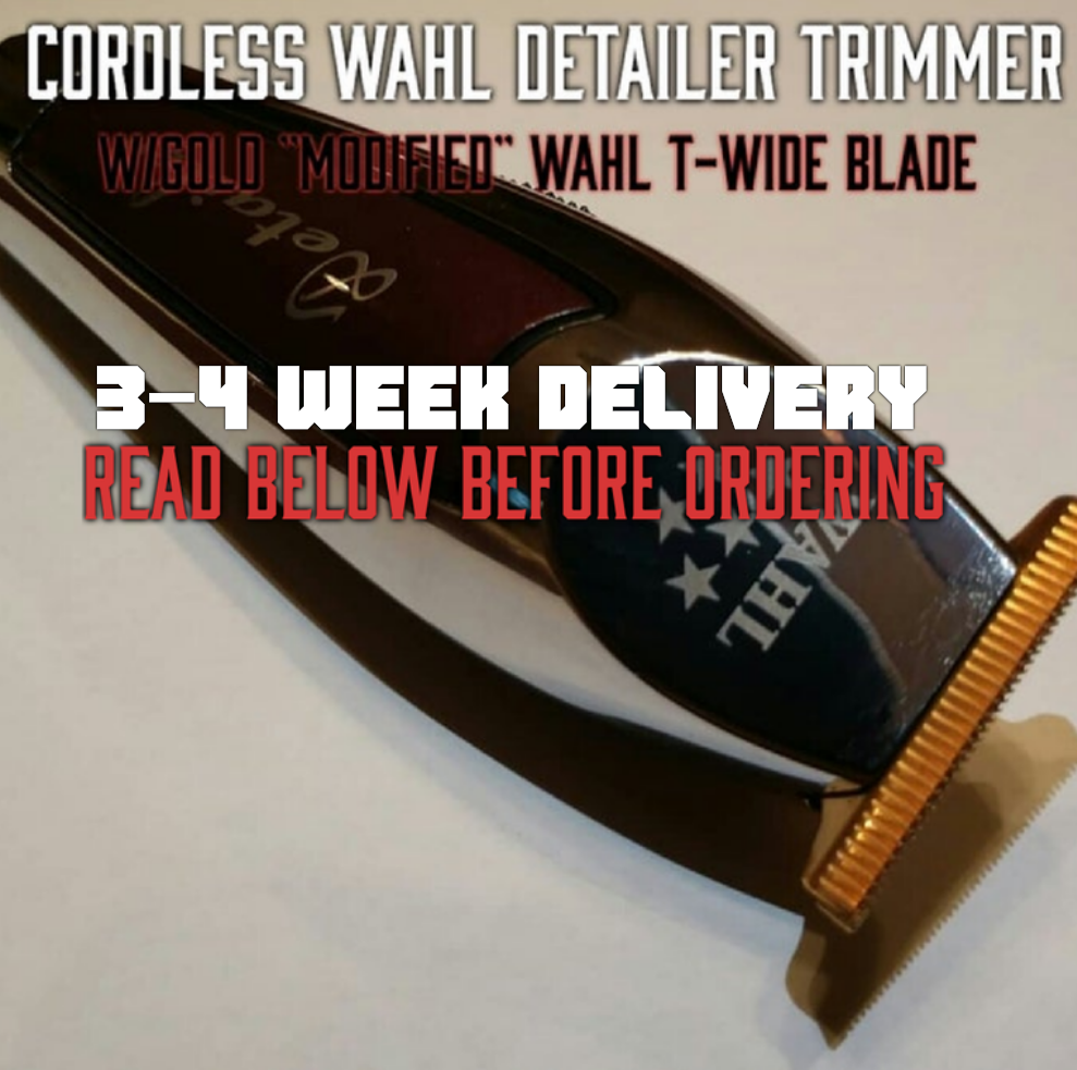 """Image of (3 Week Delivery/High Order Volume) Cordless Wahl Detailer / Includes Gold """"Modified"""" T-Wide Blade"""