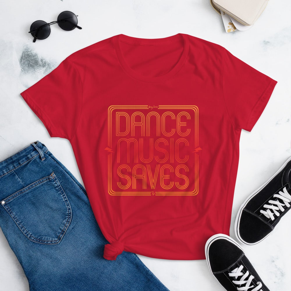 Image of WOMEN'S DANCE MUSIC SAVES TEE
