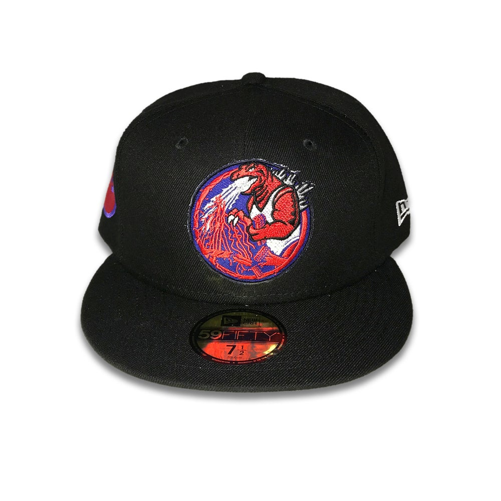 Trashbag Ghost x The Capologists Jurassic Massacre BLACK RED FITTED