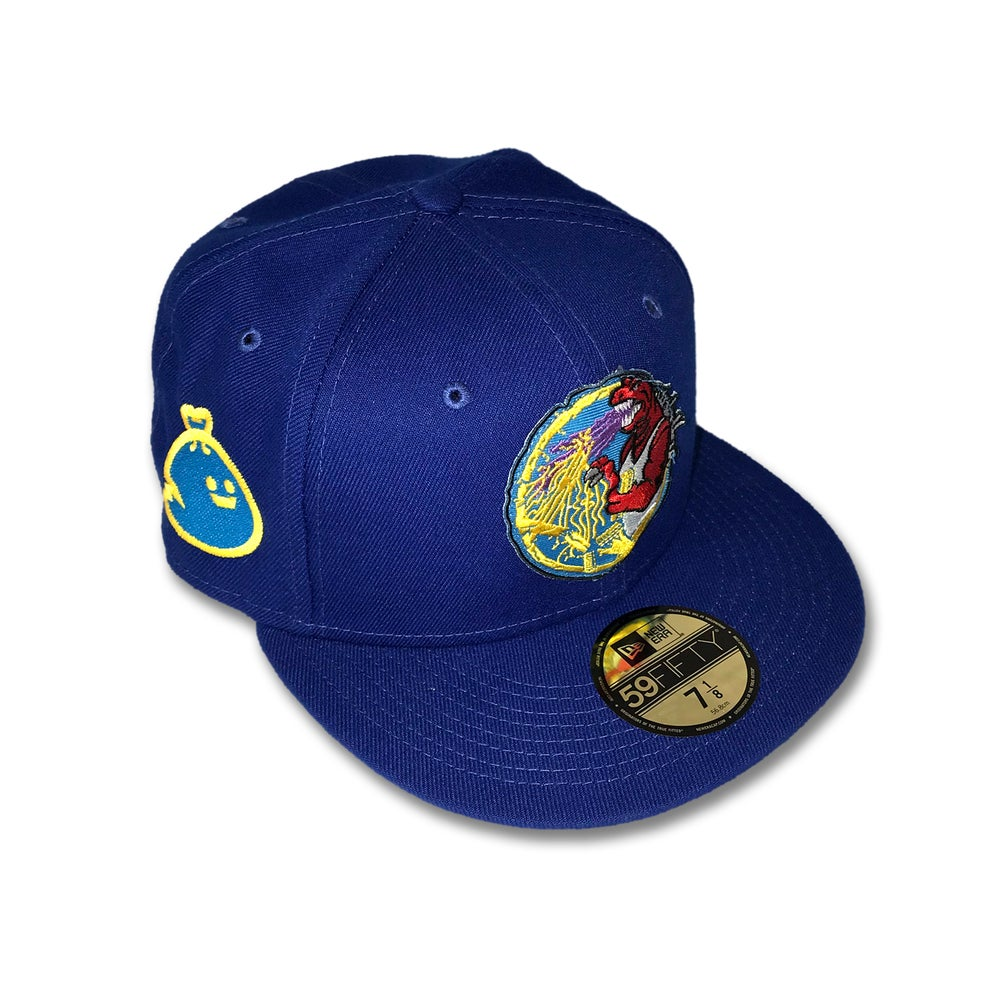 Trashbag Ghost x The Capologists Jurassic Massacre ROYAL BLUE FITTED