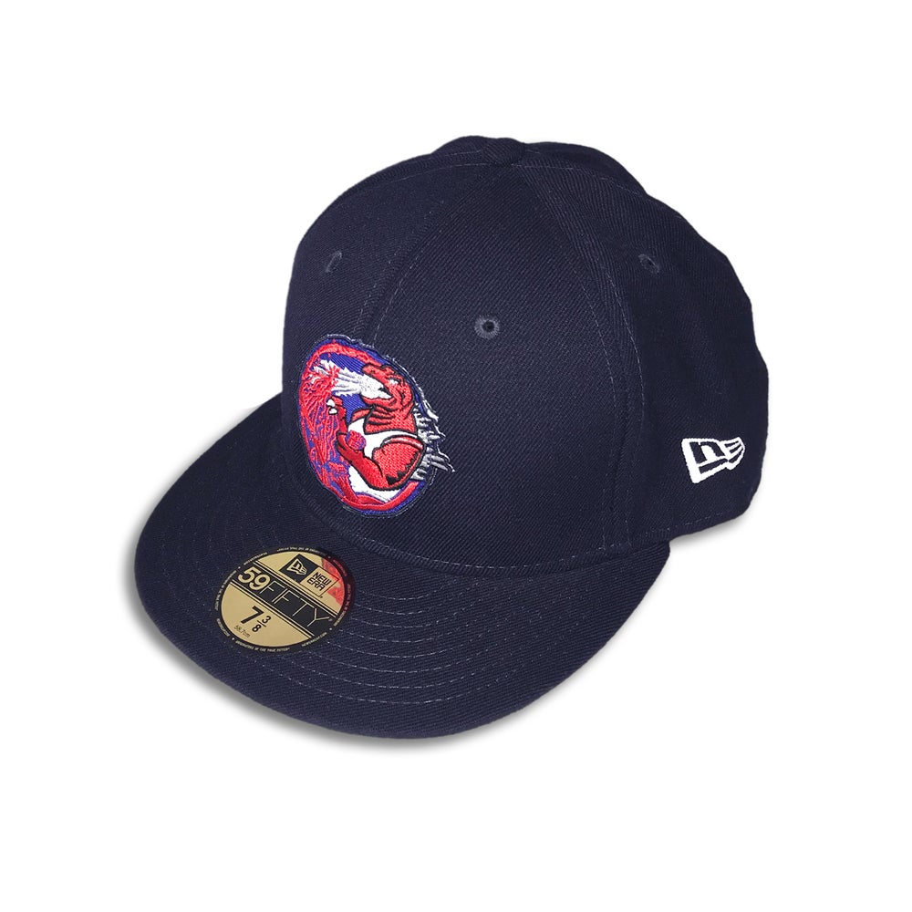 Trashbag Ghost x The Capologists Jurassic Massacre NAVY FITTED