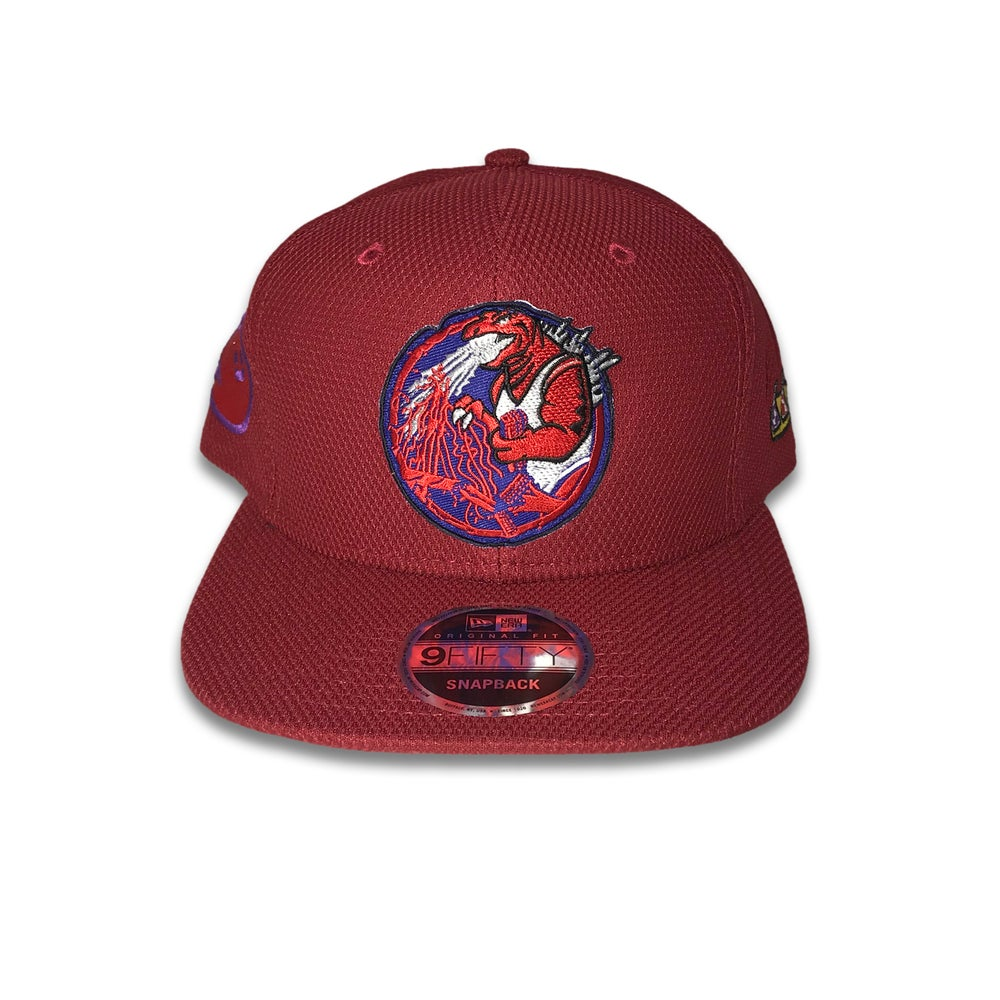 Trashbag Ghost x The Capologists Jurassic Massacre CARDINAL snap back