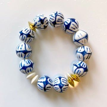 Image of Blue & White Ceramic Bracelets