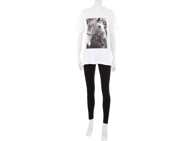 "Image of Valerie Phillips ""Horse"" print T-Shirt for JaguarShoes Collective"