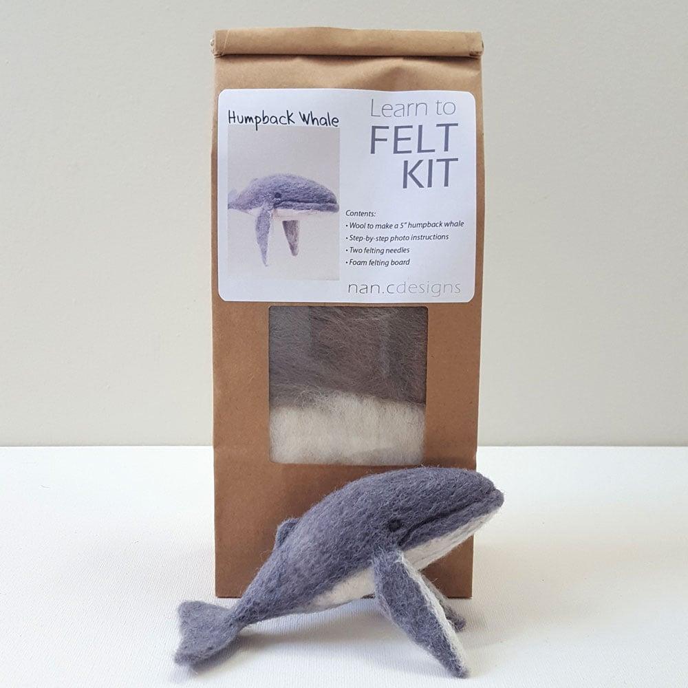 Humpback Whale - Needle Felting Kit