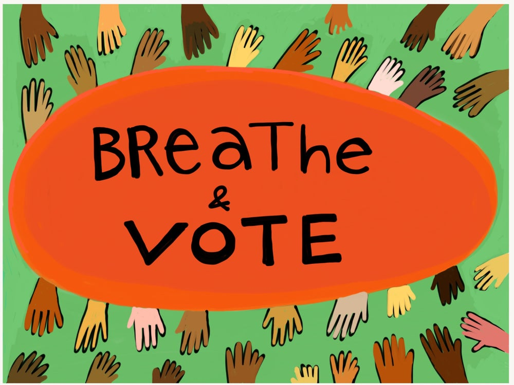 Image of Breathe & Vote Postcard