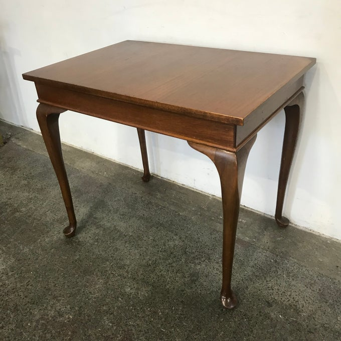 Image of COMPACT CABRIOLE LEGGED TABLE
