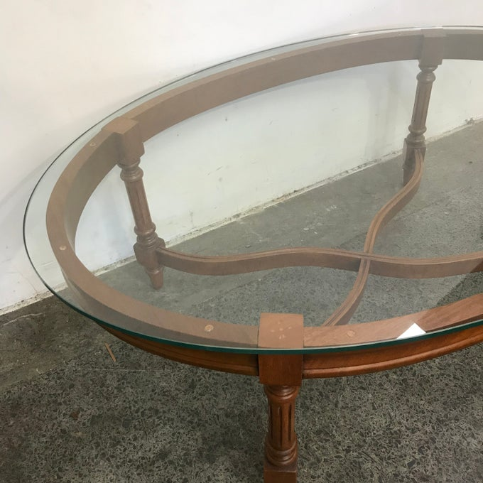 Image of REGENCY GLASS TOP COFFEE TABLE