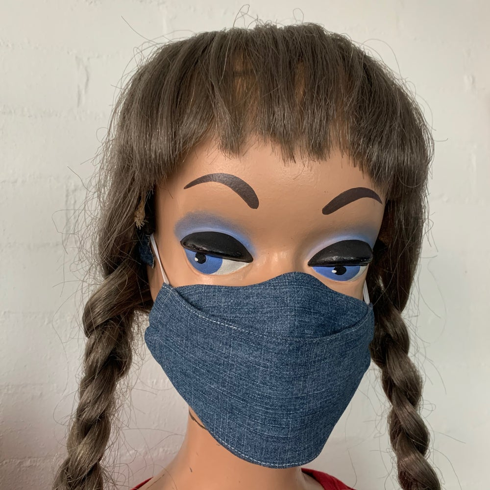 Image of Double Denim Down Face Mask
