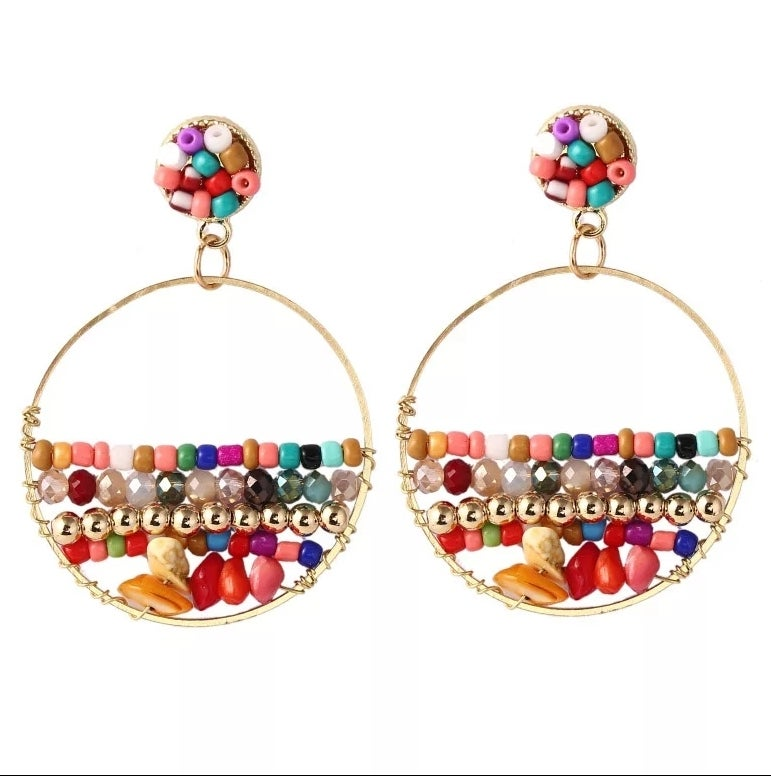 Image of BOHO BEADED - EARRINGS