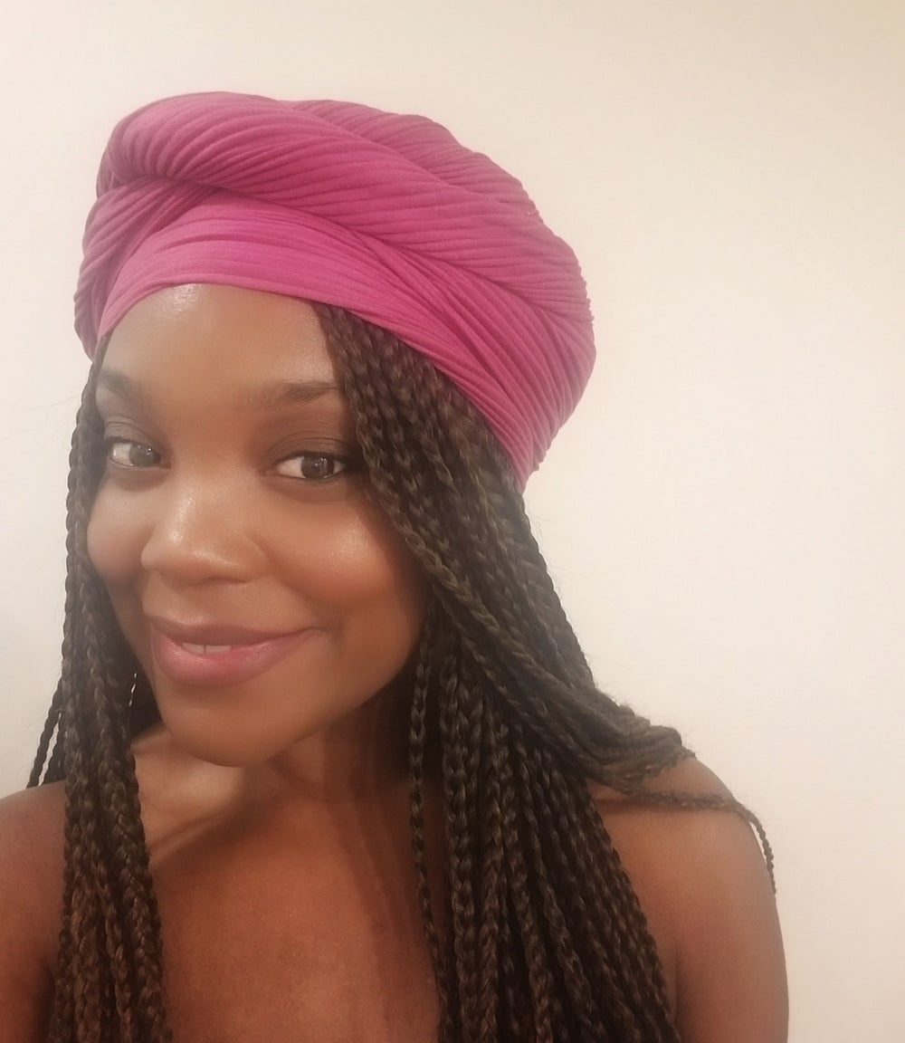 Image of FUSCHIA RIBBED - HEADWRAP