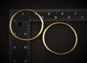 Image of Brass Hoops for Gauged Ears