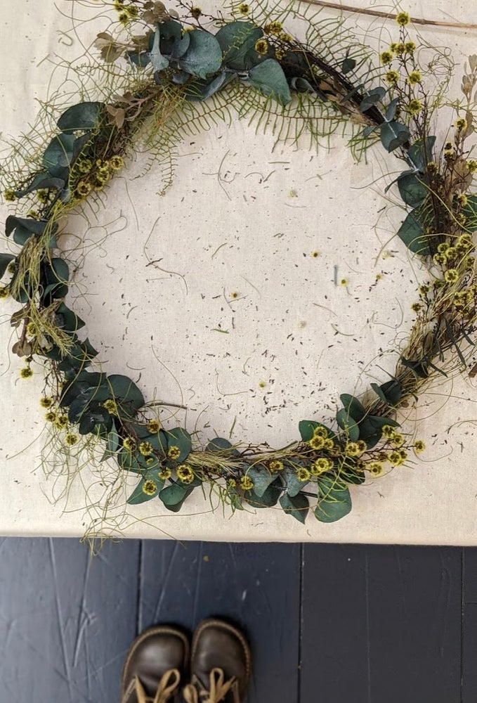 Image of Wreath making with Kerstin from BlumeFlowerSchool Sunday October 4 th 2-4.30ish