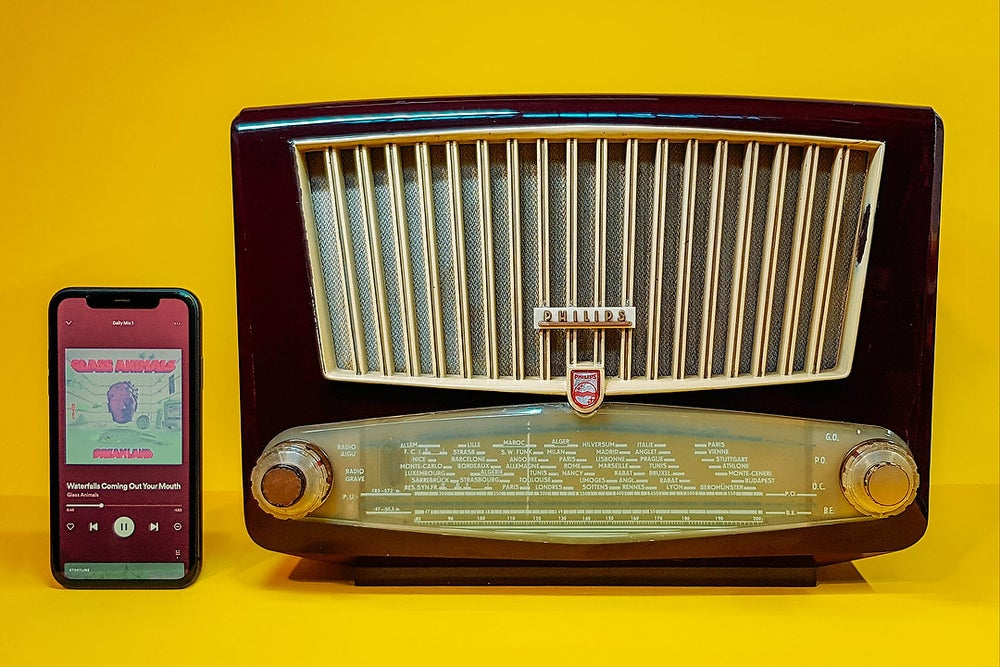 Image of PHILIPS BF341A (1954) SPEAKER VINTAGE  BLUETOOTH