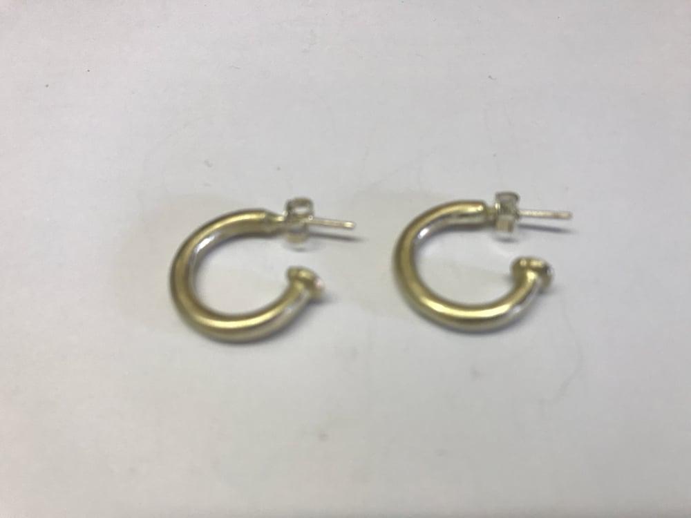 Image of Silver comb Earrings on Hoop
