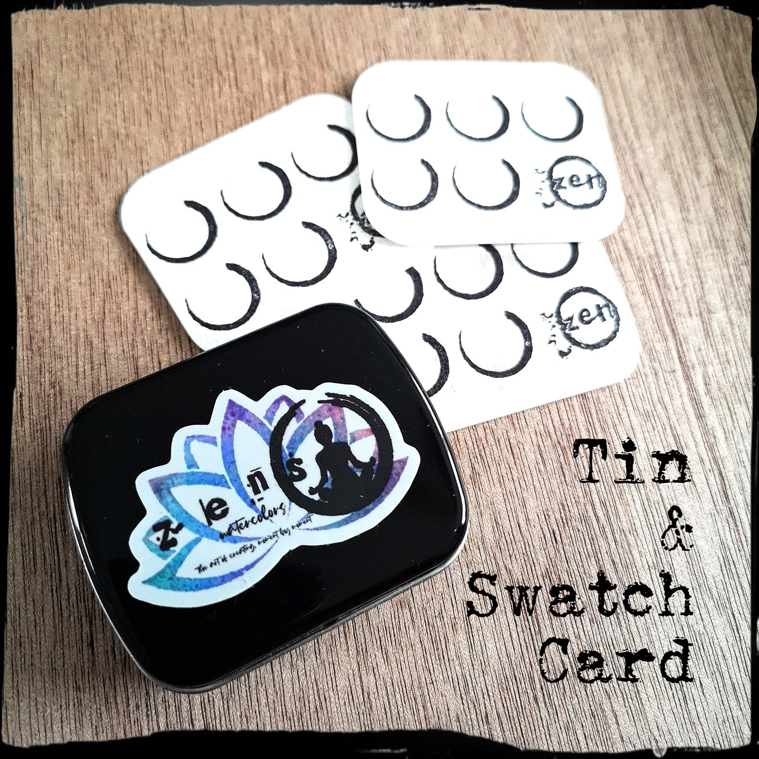 Image of Empty tin & swatch card