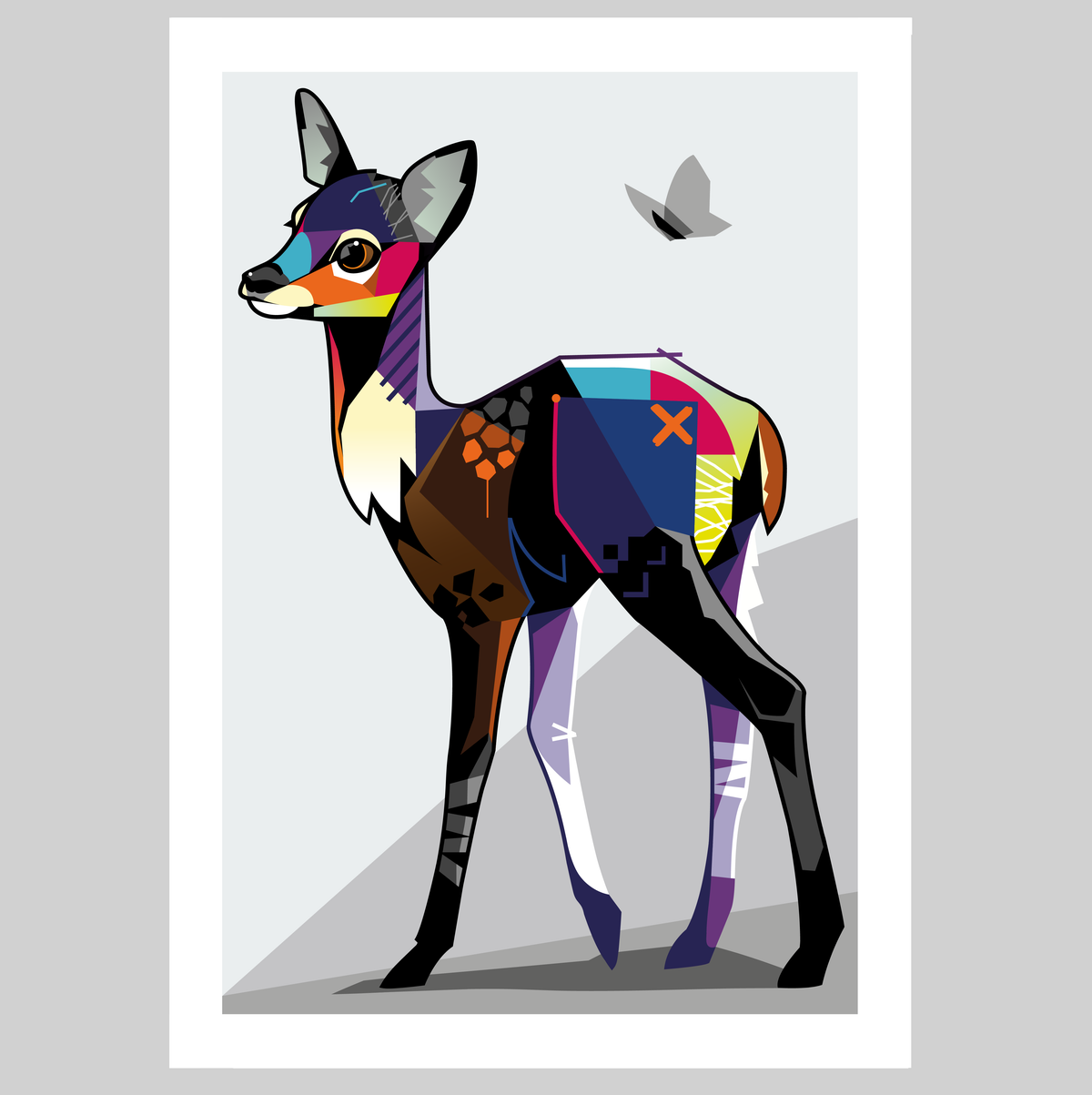 Image of  'Fallow Fawn' Limited Edition Print.