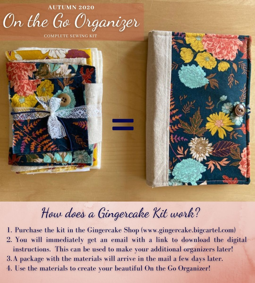 Image of On the Go Organizer Autumn 2020 Sewing Kit and Digital Pattern