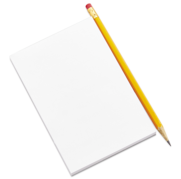 Image of Unlined Paper Pads 5'' x 8'' 50 sheets