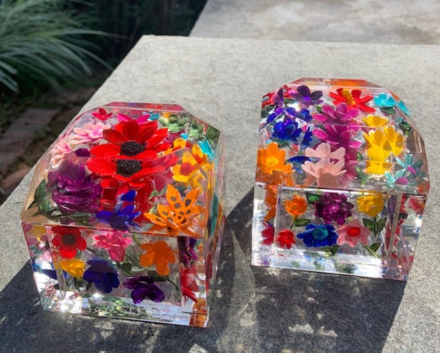Image of Jumbo Mini Painted Flower Boxes