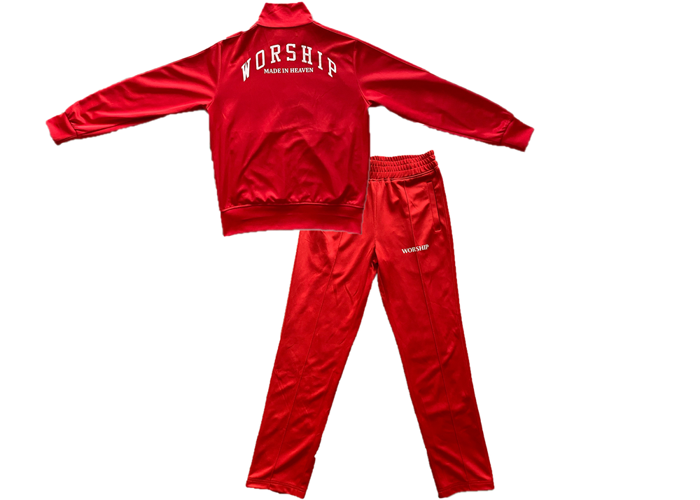 Image of Made In Heaven Tracksuit (Red)