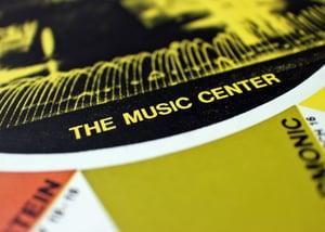 Original Vintage Poster Los Angeles TWA - The Music Center ca. 1968