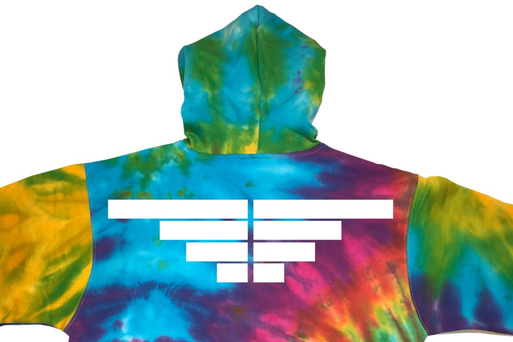 Image of O1FREE X  POLITICALLY URBAN (Collaboration) Rainbow Tie Dye Hoodie