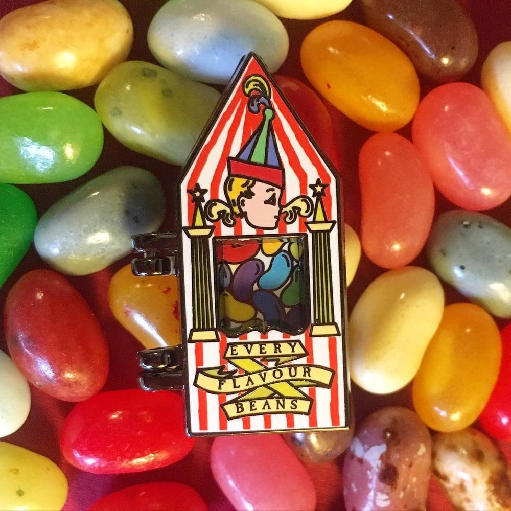 Image of Box of Beans pin