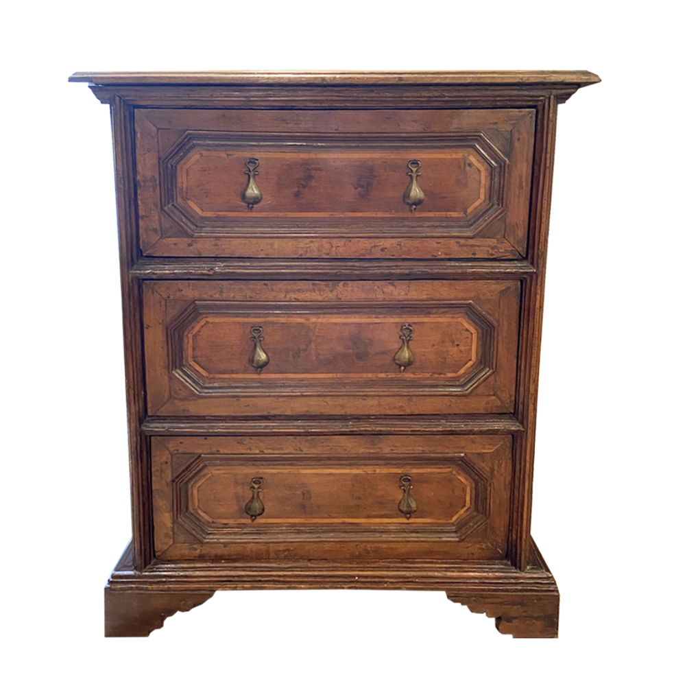 Image of 18th Century Italian Walnut Side Table