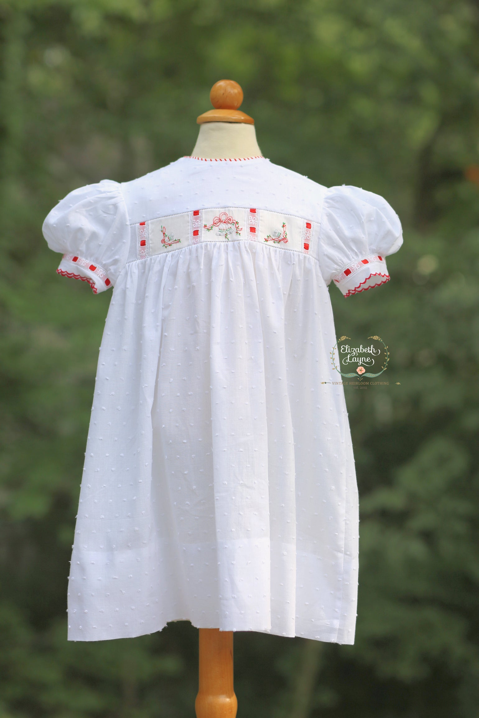 Image of Dotted Swiss 'Jingle Bells' Bubble & Dress