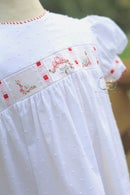 Image 2 of Dotted Swiss 'Jingle Bells' Bubble & Dress
