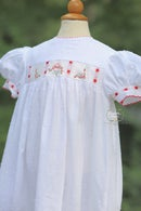 Image 3 of Dotted Swiss 'Jingle Bells' Bubble & Dress