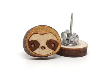 Image of Sloth post earrings