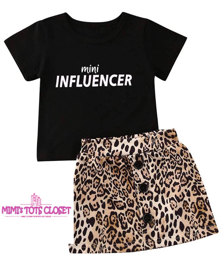 Image of Cheetah Skirt Set