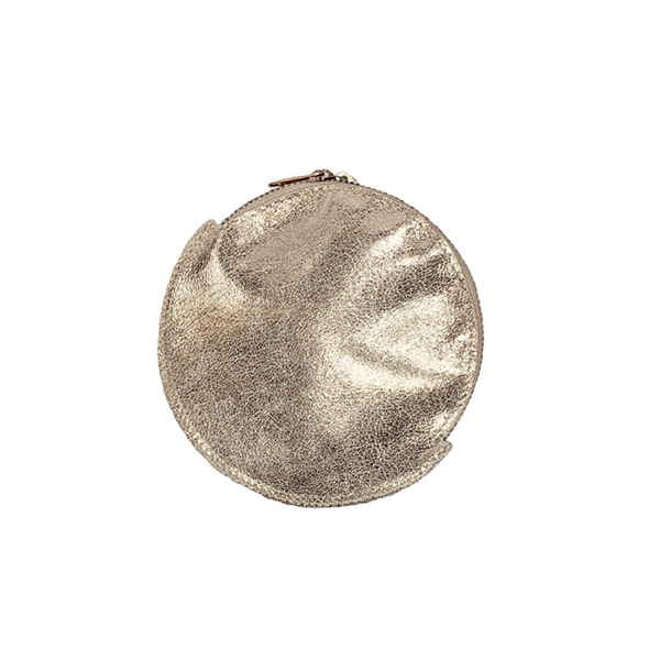 Image of Metallic Leather Pouch