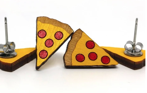 Image of Pizza Earrings