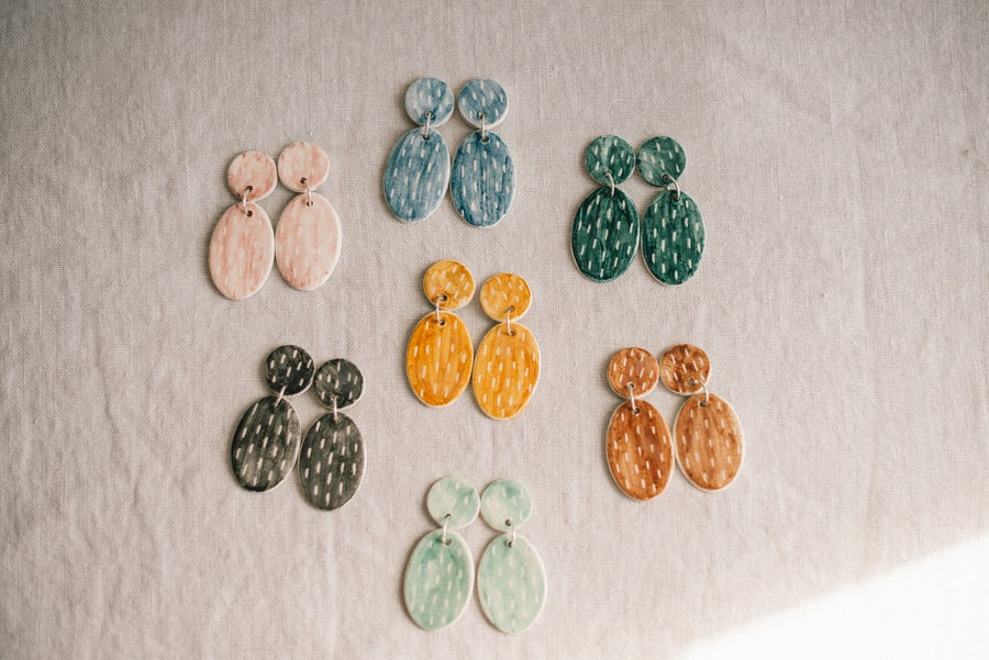 Image of CLAY EARRINGS: Modelo Speckled