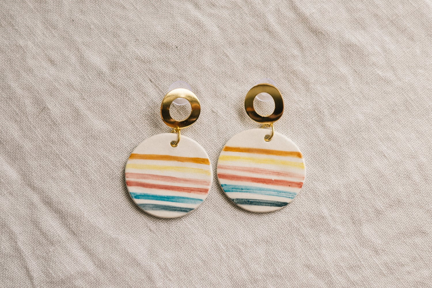 Image of CLAY EARRINGS: Modelo Circle