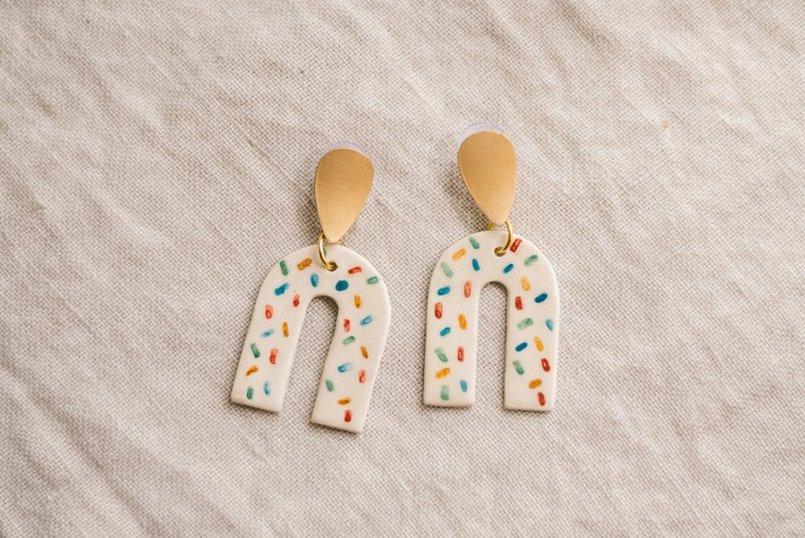 Image of CLAY EARRINGS: Modelo Sprinkles